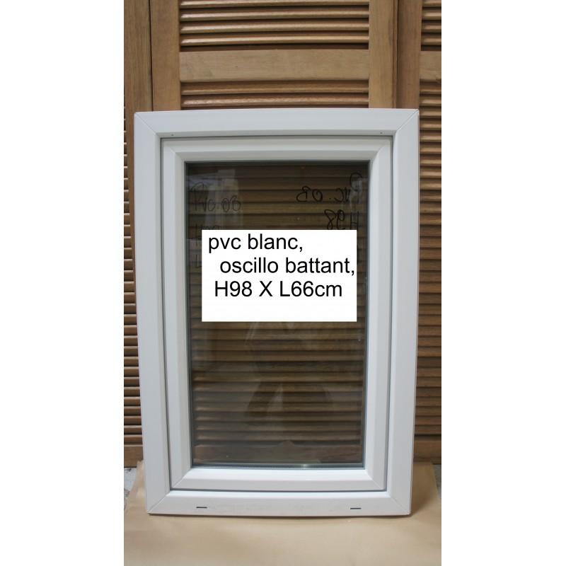 fenêtre 1 vantail pvc blanc